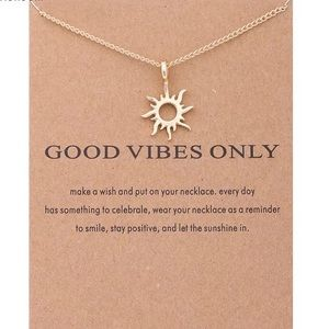 Good Vibes Sun Pendant Gold Necklace